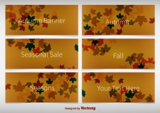 Free vector Autumnal Background Banners #4496