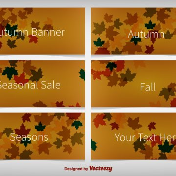 Free vector Autumnal Background Banners #4534
