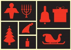 Free vector Christmas Icon Collection #5537
