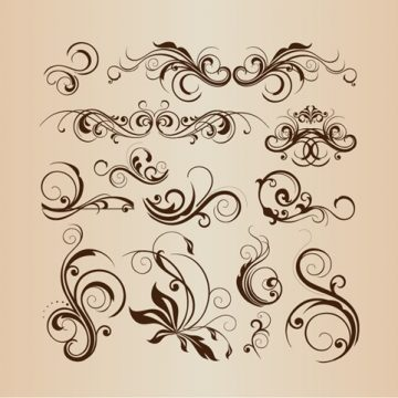 Free vector Vector Collection of Design Floral Decorative Elements #5483