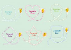 Free vector Cute Bee Shapes #5486