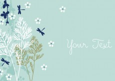 Free vector Dragonfly Background Design #7716