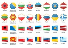 Free vector Vector Europe Flags #11367