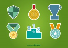 Free vector First Place Flat Icons #5109