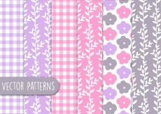 Free vector Floral Romantic Pattern Set #10765