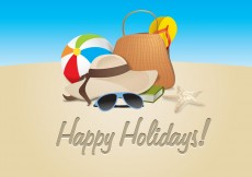 Free vector Happy Holidays #8946