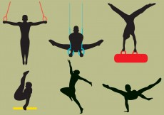 Free vector Vector Male Gymnast Silhouettes #11980