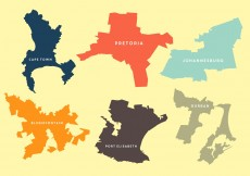 Free vector Vector Maps of Several Cities in Saouth Africa #11806