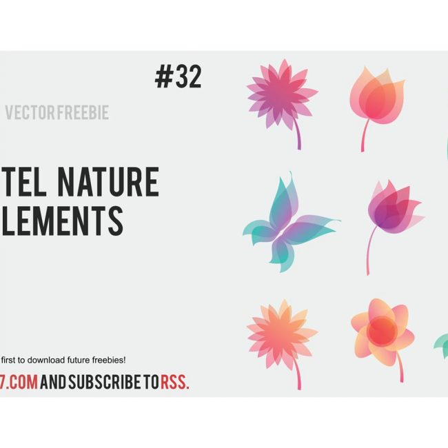 Free vector Pastel nature elements #8196