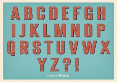 Free vector Retro Style Alphabet Set #11523