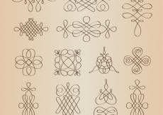 Free vector Vector Set of Calligraphic Decorative Design Elements #5332