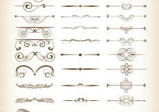 Free vector Vector Set of Calligraphic Design Decor Elements #4862