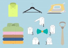 Free vector Vector Set of Colored Folded Shirt and Different Accessories #11750