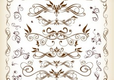 Free vector Vector Set of Floral Ornaments #4878