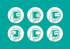 Free vector SMS Icon Set #12214