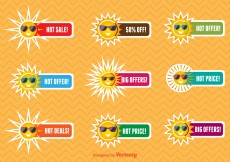 Free vector Summer sale labels #10576