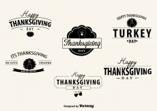 Free vector Thanksgiving Day Badges #7800
