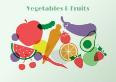 Free vector Vegetables and fruits #4755