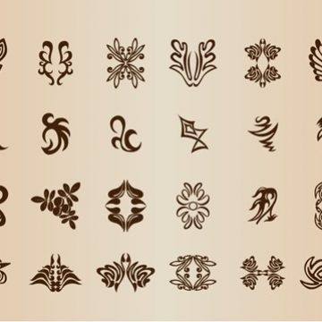 Free vector Vintage Symbol Elements Vector Set #5367