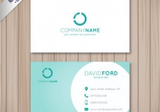 Free vector Visit card with a turquoise circle #6430