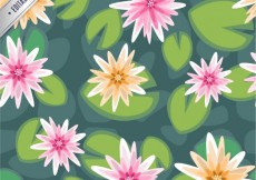 Free vector Water lilies pattern #3992
