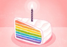 Free vector Watercolor rainbow cake #11024