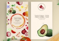 Free vector Watercolor traditional food flyers #8731