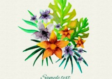 Free vector Watercolor tropical flowers #11538