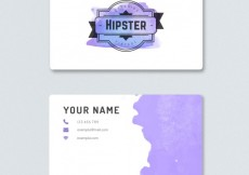 Free vector Watercolor visit card in hipster style #7146