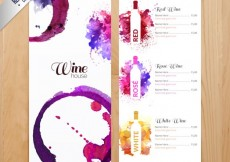 Free vector Watercolor wines menu #8727