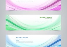 Free vector Wavy lines banners #11060