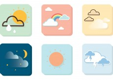 Free vector Weather Vector Icons #8298