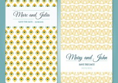 Free vector Wedding card with abstract pattern #10241
