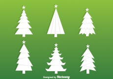 Free vector White Christmas Tree Silhouette Vectors #5732