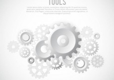 Free vector White gears background template #8412