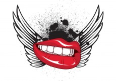 Free vector Wings, lips and pattern vector samples #9355