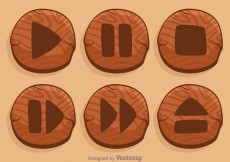 Free vector Wood Media Player Button #4198