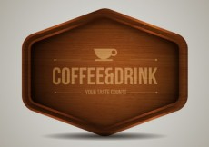 Free vector Wooden cafe sign #7164