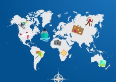 Free vector World travel map #11707