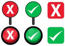 Free vector Yes or No Sign Vectors #7740