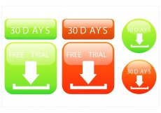 Free vector 30 Day Free Trial Vector Design Set #17435