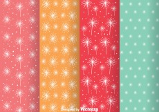 Free vector Abstract Colorful Girly Pattern Vectors #12778
