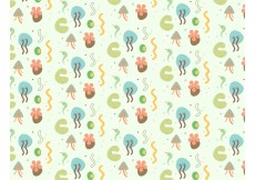 Free vector Abstract Plants Vector Background #12368