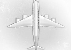 Free vector Airplane top view #19406