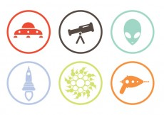 Free vector Alien Icons #14478