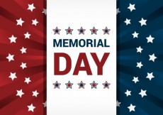 Free vector American flag background for memorial day #18328