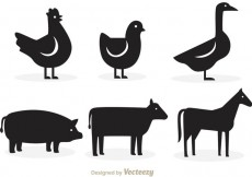 Free vector Animal Silhouette Vectors #13649