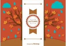 Free vector Autumn Background Label Template #19759