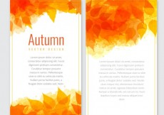 Free vector Autumn banners template in orange tones #14855