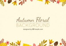 Free vector Autumn floral background #14879